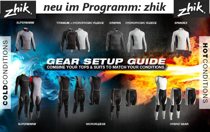 zhik Segelbekleidung Segeljacken Segelanzug Spraytop Neopren