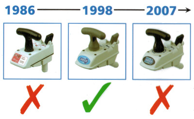 Unterschied Toilette Jabsco ITT Baujahr und Bauform