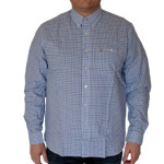 Musto L S Oxford Hemd Shirt Man   Blue Check Größe Xl