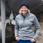 Damen Strick Fleece Größe: 10 (36)